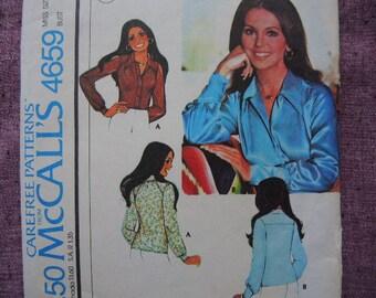 vintage 1970s McCalls sewing pattern 4659 misses set of blouses size 12