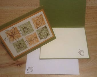Thank you card - set of 4 cards