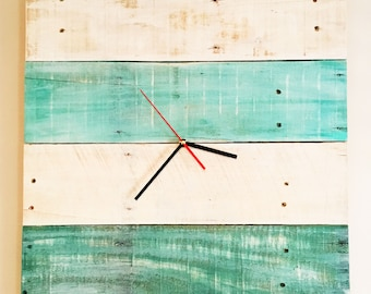 Rustic Reclaimed Wood Wall Clock