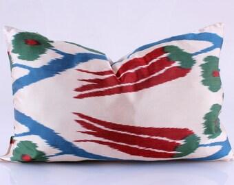 Ikat-Kissen, Hand gewebt Ikat Kissenbezug, Ikat werfen Kissen, Kissen Ikat, Designer Kissen, dekorative Kissen, Akzent Kissen