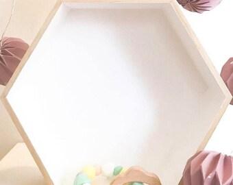 Hexagonal shelf size M customize