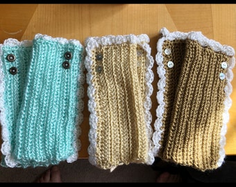 Crochet arm warmers