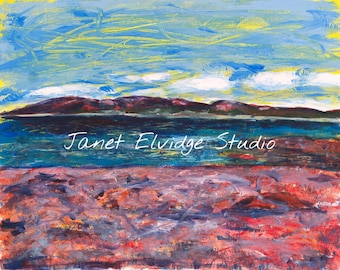 Mountains of Acadia. Manset, Maine. This Giclee print is from an edition of twenty, 16 x 20 prints signed and numbered by Janet Elvidge.