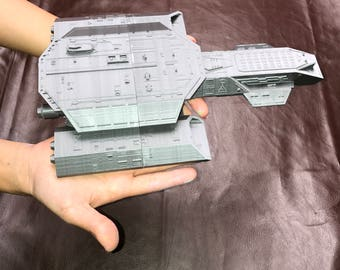 Daedalus spaceship from Stargate sg1 with stand