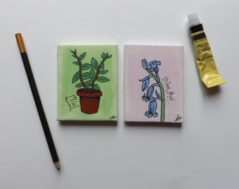 Bluebell + Mint, Mini canvas set