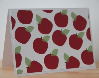 12 Apple Note Cards. Teacher Card Set. Teacher Thank You Cards. Back To School Card Set. Teacher Gift.Teacher Appreciation Cards. Apple Card