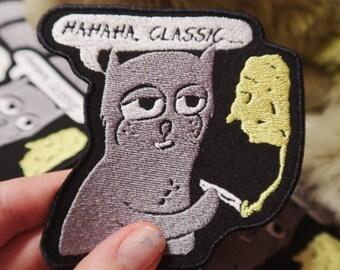 HAHAHA CLASSIC patch cat meme