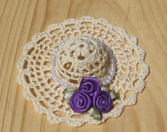 Miniature  Crochet Hat for Doll House or Fairy Garden