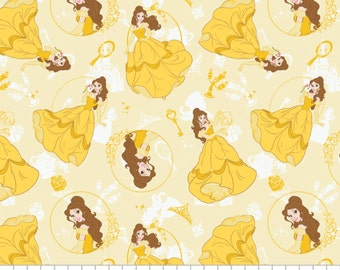 In STock Disney Fabric, Disney Princess: Beauty and the Beast fabric - Belle by Camelot Fabric  100% cotton Fabric by the yard CA299