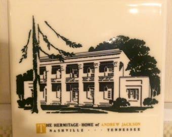 Vintage Hermitage Souvenir Tile Trivet