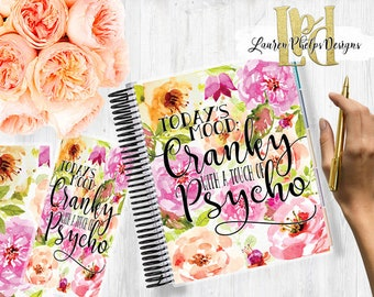 Planner Cover   Laminated 10mil   for use with   Erin Condren   Happy Planner   Summer   Watercolor   Floral
