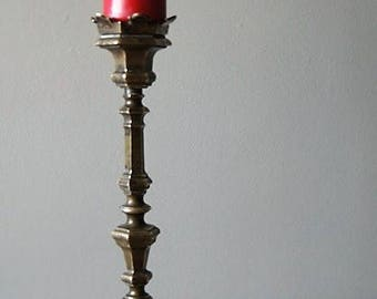 Baroque candlestick of brass/copper.