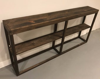Long Console Table With Shelf / Wide Console Table / Media Table / TV Stand  /
