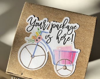 1,200 Packaging Stickers, Your Package is Here, Small Business Stickers, Happy Mail Stickers, Business Mailing Stickers, Custom Logo Sticker