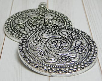 Silver pendant etsy aloadofball Image collections