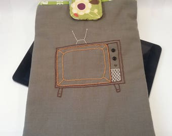 Tablet Case / E-Reader Cover, embroidered and padded electronics cover for school, work, or travel