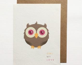 Owl My Love Greetings Card