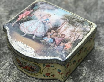 Rustic Kemp's biscuit tin 1920's Shabby chic