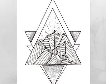 mountain line art etsy rh etsy com mountain line art vector mountain line art tattoo