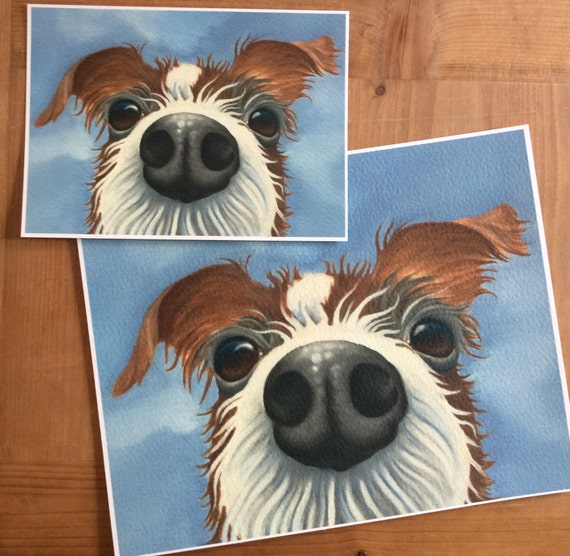 wire haired jack russell painting Peanut