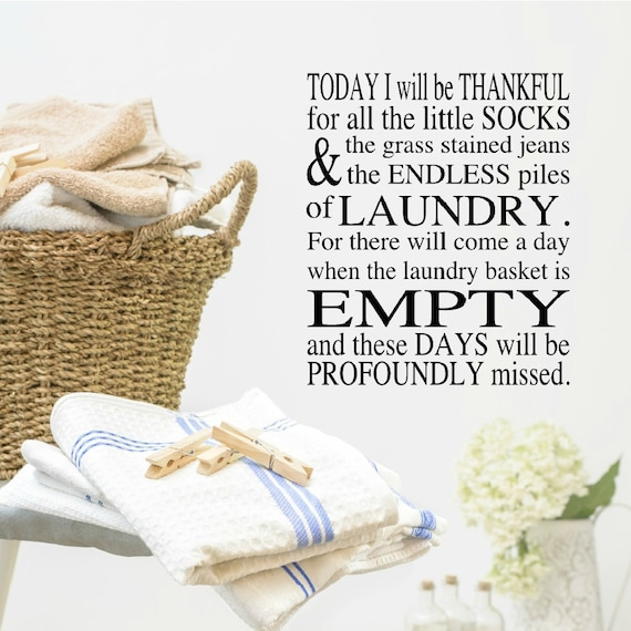 Laundry Room Wall Decal Quote by VinylWritten