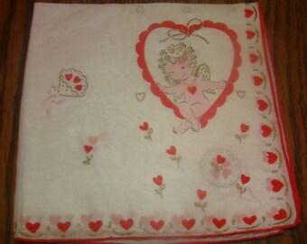 Great Vintage Valentine Hankie