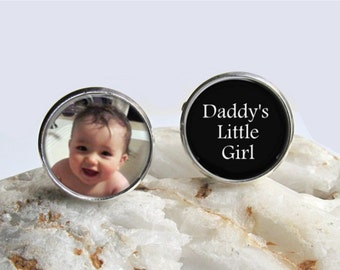 Mens Cufflinks, Custom Photo Cufflinks, Dad Cufflinks, Personalized Cufflinks