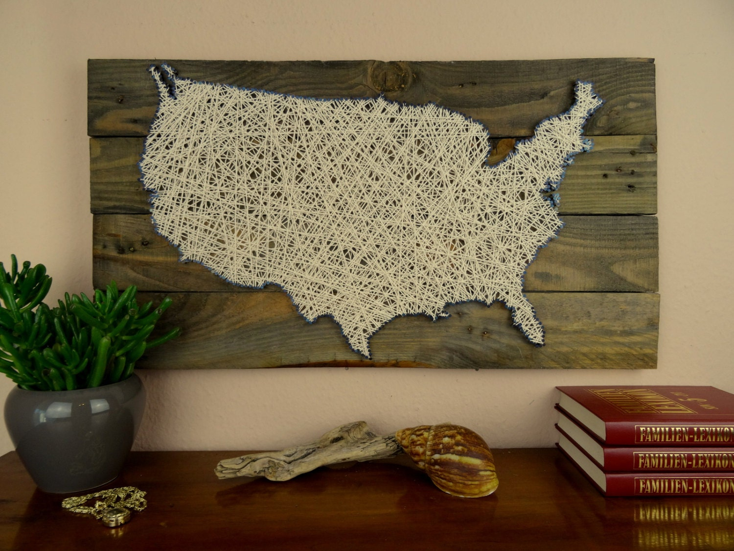 🔎zoom. usa map string art reclaimed wood shabby chic wedding