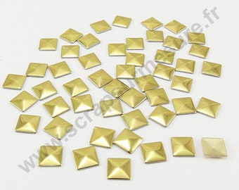 Square Thermo - Golden - 5mm - x 75pcs