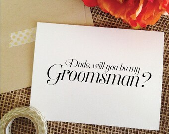 Funny will you be my groomsman Asking Groomsmen invitation Groomsmen Proposal card - Groomsmen Card Funny - Best man proposal card (wa8dude)