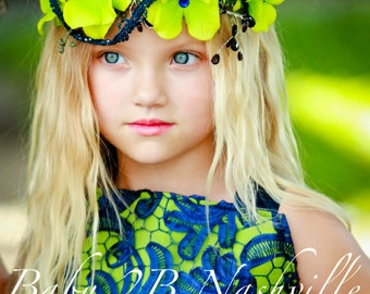 Wedding Flower Girl Accessory Hydrangea Fairy Halo Flower Girl Headpiece