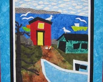 Burly n the Boys, Free Shipping, Salt Air, Fishing Boat, Nova Scotia, Seagulls, Kelly Burgess, Rural Life, Sunny Day, Happy, Uplifting Card