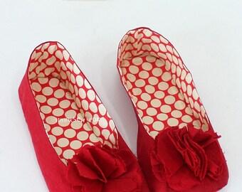 138 Juliet Women's Room Shoes PDF Sewing Pattern