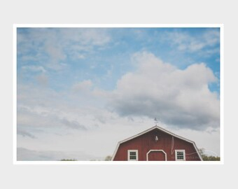 red barn photography, red barn print, abstract red barn, rustic barn print, country landscape, modern farmhouse art, nature photograph