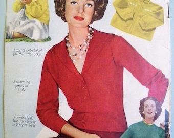 Knitting Patterns Vintage 1950s - Best Knitting - 50s Magazine Supplement  - Sweaters Cardigans Jackets Women's Men's Children's Knitwear