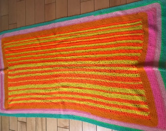 multicolored bright afghan