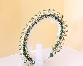 tutoriel pas à pas du bracelet Opaline