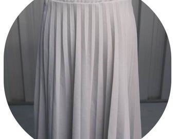 Vintage 70's Act III Grey Pleated Skirt Size 10/12