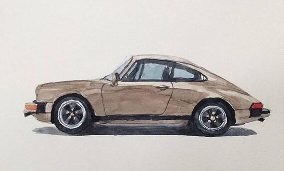 Porsche Porsche Painting Porsche Watercolor Porsche 911