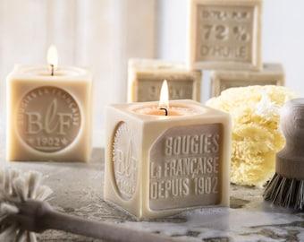 Bougies La Francaise Fresh Laundry Lavender Marseille Soap shaped scented candle