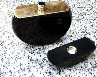 Drinking Flask made from natural obsidian | FREE SHIPPING | may be customized
