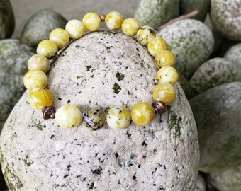 Yellow Turquoise Faceted Beaded Bracelet