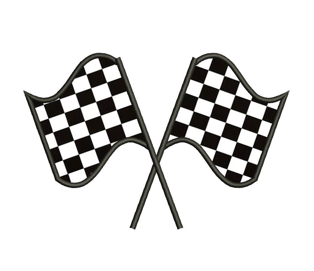 racing checkered flag applique machine embroidery digitized, Powerpoint templates
