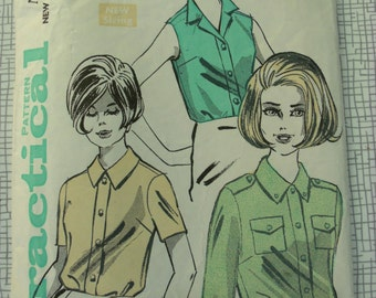 """1960s Blouse - 38"""" Bust - Practical Pattern 5922 - Vintage Retro Sewing Pattern"""