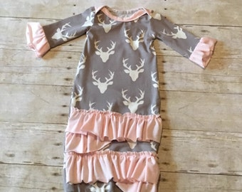 Girl Deer Gown Set