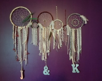 Dare to Dream Dreamcatcher Wall Set- Set of 6 dreamcatchers for one wall decor set