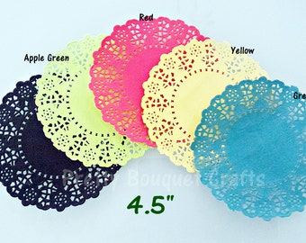 French Lace Paper Doilies 4.5"
