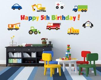 Truck Birthday Party - Boy Birthday Party Decorations - Boys Birthday Party - Transportation Birthday Party