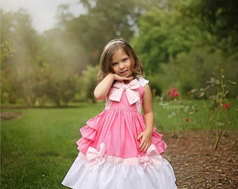ready to ship Pink Cinderella Dress with attached underskirt