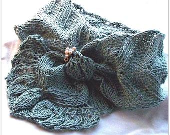 Scarf Knitting Pattern  - Spring Flora